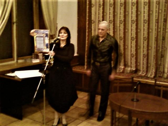 Валерия Прайд, Юрий Никитин, вручение диплома